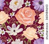 elegance seamless color flower...   Shutterstock .eps vector #360484643