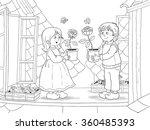 the snow queen. fairy tale.... | Shutterstock . vector #360485393