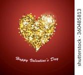 sparkle glitter valentines day... | Shutterstock .eps vector #360485813