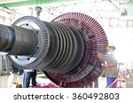 Industrial Steam Turbine At Th...