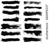 set of grunge brush strokes  ... | Shutterstock . vector #360494237