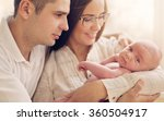 young mother and father with... | Shutterstock . vector #360504917