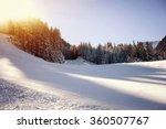 panoramic view of ski resort