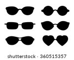 set of sun glasses icons... | Shutterstock .eps vector #360515357