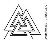 valknut outline symbol . vector ... | Shutterstock .eps vector #360519377