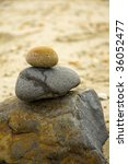 stones on beache | Shutterstock . vector #36052477