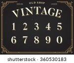 alphabet vector font. numbers 0 ... | Shutterstock .eps vector #360530183