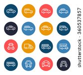 car line icon set | Shutterstock .eps vector #360537857