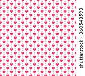 heart shape seamless pattern.... | Shutterstock . vector #360543593