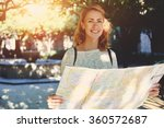beautiful happy female tourist... | Shutterstock . vector #360572687