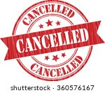 cancelled grunge stamp | Shutterstock . vector #360576167