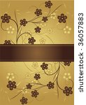 golden and chocolate frame for... | Shutterstock . vector #36057883