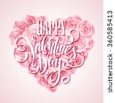 valentine card with rose heart... | Shutterstock .eps vector #360585413