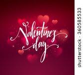 shiny hearts bokeh valentine... | Shutterstock .eps vector #360585533