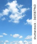 the vast blue sky and clouds sky | Shutterstock . vector #360587963