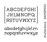 font serif black | Shutterstock .eps vector #360589043