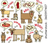 what dogs think and say... | Shutterstock .eps vector #360597407