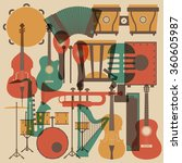 set of abstract classical music ...   Shutterstock .eps vector #360605987