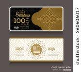 gift certificate voucher coupon ... | Shutterstock .eps vector #360606017