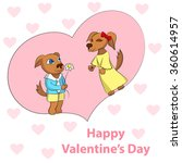 two dogs in love. funny vector... | Shutterstock .eps vector #360614957