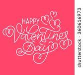 greeting card design 'happy... | Shutterstock .eps vector #360616973