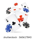 casino concept floating cards... | Shutterstock .eps vector #360617843