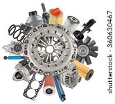 new auto spare parts around... | Shutterstock . vector #360630467