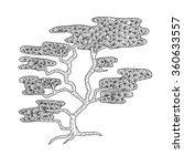zentangle the baikal cedar for... | Shutterstock .eps vector #360633557