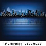 abstract night background with... | Shutterstock .eps vector #360635213