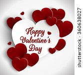 valentines day background with... | Shutterstock . vector #360638027