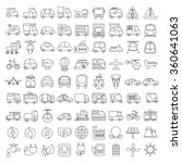 vehicle icons set ... | Shutterstock .eps vector #360641063