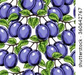 seamless fruits pattern with... | Shutterstock .eps vector #360642767