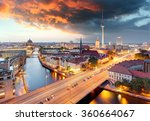 Berlin At Dawn With A Dramatic...