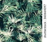 Leaves Of Tropical Plants. Han...