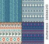 blue vector aztec seamless... | Shutterstock .eps vector #360666143