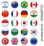 g20 flag collection complete | Shutterstock .eps vector #360668723