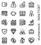 finance line icon set. pixel... | Shutterstock .eps vector #360675287