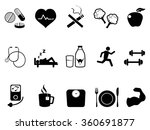 healthy life icons set | Shutterstock .eps vector #360691877
