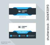 modern creative business card... | Shutterstock .eps vector #360692093