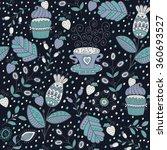 seamless pattern in vintage... | Shutterstock .eps vector #360693527