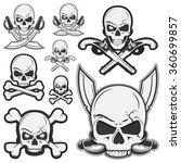 set of vintage pirate skull... | Shutterstock .eps vector #360699857