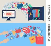 online shopping concept. e... | Shutterstock .eps vector #360701333
