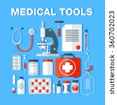 medical tools icons set.... | Shutterstock .eps vector #360702023