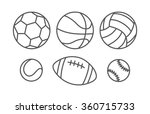 sports balls in linear style | Shutterstock .eps vector #360715733