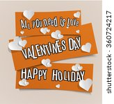 happy valentines day vector... | Shutterstock .eps vector #360724217