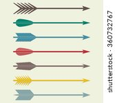 arrows vector. bow arrows.... | Shutterstock .eps vector #360732767