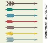 Arrows Vector. Bow Arrows....