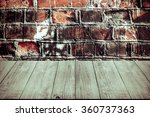 wall of dirty red bricks.... | Shutterstock . vector #360737363