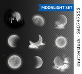 Moonlight Set With Moon Phases...
