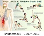 a set of yoga postures female... | Shutterstock .eps vector #360748013